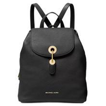 See Details - Michael Kors Raven Leather Backpack