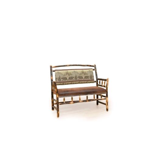 Brage Rustic Collection - Hickory Hoop Deacon Bench