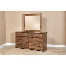 Bench Built Dresser and Mirror