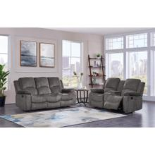 Reclining Sofa with Drop Down Table Subaru Mocha