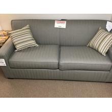 "5950 Queen Sleep Sofa, Covered in Sunbrella fabric Trax Smoke-Material/80""w-36""d-36""h"