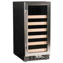 "15"" Wine Center with Stainless Trim Glass Door"