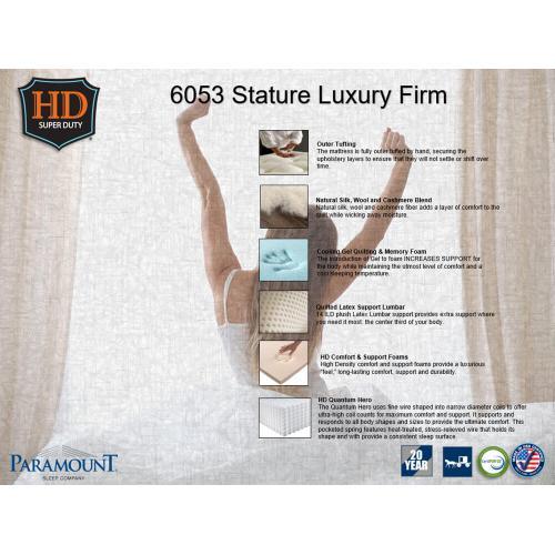 Paramount Sleep - Heavy Duty - Stature - Luxury Firm