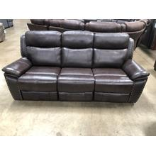 View Product - LEATHER RECLINING SOFA U600