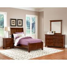 Twin Cherry 4 PC Bedroom Set - Sleigh Bed