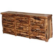 9 Drawer Dresser Log Front Wild Panel Gnarly Log
