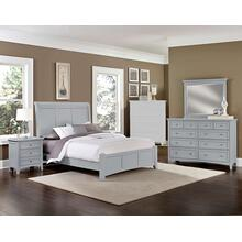 King Gray 4 PC Bedroom Set - Sleigh Bed