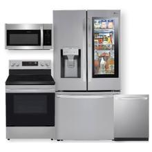 See Details - Smart wi-fi enabled 24 cu. ft. InstaView Door-in-Door Counter-Depth Refrigerator & 6.3 cu ft. Electric Range- 4 Pc Package