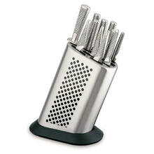 Global G-8311KB/BD Stainless Steel 11-Piece Knife Set with Knife Block