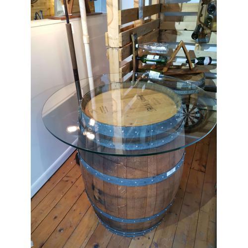 Wine & Oak - Wine Barrel Bar Table