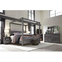 Baystorm - Queen Canopy Bed, Dresser, Mirror, & 1 x Nighstand