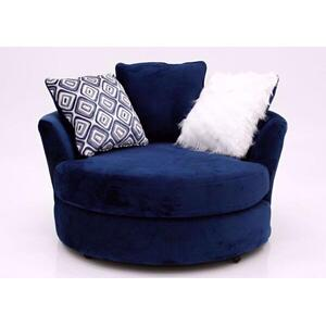 ALBANY 8642-27NC Groovy Navy Swivel Chair