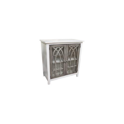 Gallery - White/Granite Accent Cabinet