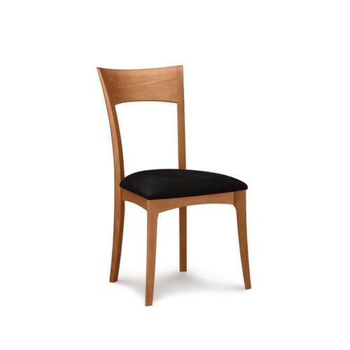 INGRID SIDECHAIR WITH UPHOLSTERED SEAT IN CHERRY