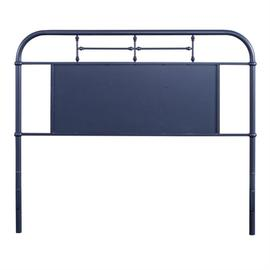 King Metal Headboard - Navy