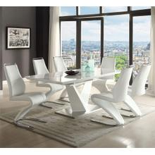 TABLE High Gloss White Lacquer