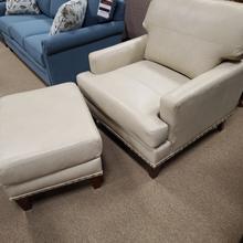 England Leather Chair and Ottoman (LRUCHA877-LRUOTT714)