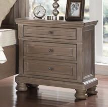 Allegra Nightstand -Pewter