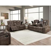 JANTZEN BROWN DUAL RECLINING SOFA