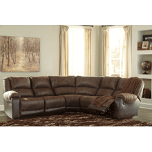 Nantahala - Coffee - 2 Recliner Sectional