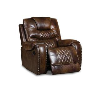 Vintage Carmel Leather Recliner