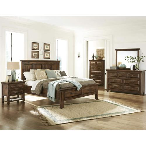 Queen Bed with Foot Board Storage
