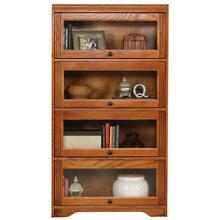 "Oak 4-Door 60"" Lawyer Bookcase"