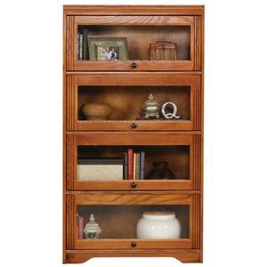 "American Heartland Manufacturing - Oak 4-Door 60"" Lawyer Bookcase"