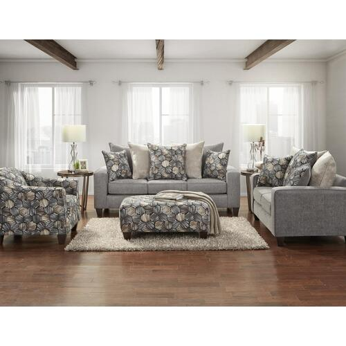 5800 Sparkle Graphite Sofa and Loveseat