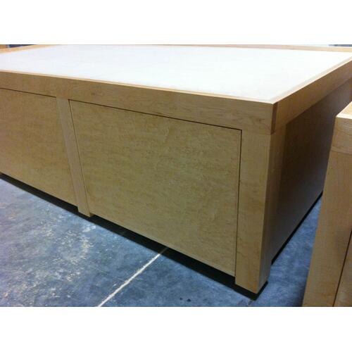 Shaker Style Twin Extra Long Custom Chestbeds in Birdseye Maple