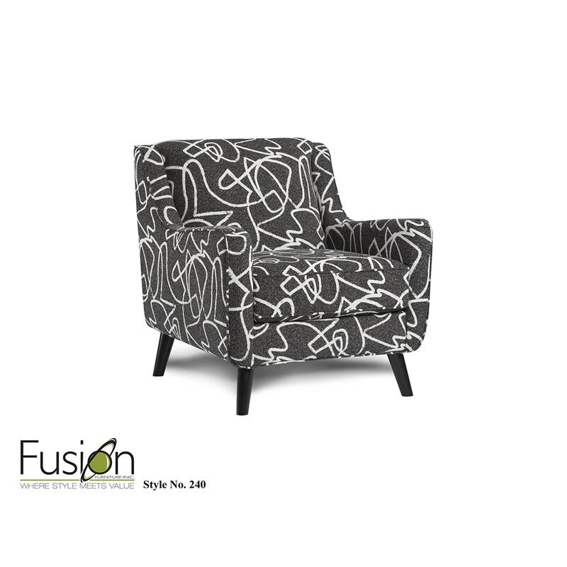 Scribble Tuxedo Accent Chair