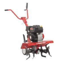 The Troy-Bilt Colt FT is a front-tine tiller ideal for planting, cultivating, and soil turning. Compact and flexible for small-to-medium sized gardens with adjustable tilling widths of 13-, 22- or 24-inches. 12-inch Bolo™ tines with a depth stake that allows you to customize your tilling depth up to 7-inches. Powered by a 208cc OHV Troy-Bilt engine with 1 forward speed allows you to slice, chop, and turn to create finely milled, well-aerated soil. Forward rotating tines move in the same direction as the wheels and are best used in areas that have previously been tilled. Quickly turn soil for easier planting in the spring or turning under vegetation in the fall. Handle height adjusts for convenience and comfort for everyone. Tiller can also be used to help prep areas for seeding and mixing compost in the pile or into your soil. 2-year limited warranty gives you peace of mind.