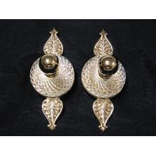 Cristal et Bronze Crystal and Silver Robe Hook