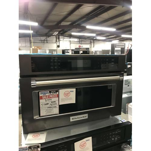 """27"""" Built In Microwave Oven with Convection Cooking - Black Stainless **OPEN BOX ITEM** Ankeny Location"""