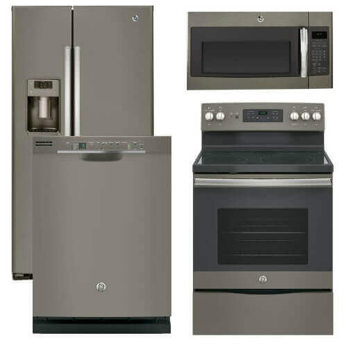 Ge 4 Pc Slate or Stainless Package