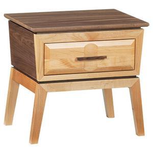 Whittier Wood Furniture - Addison 1-Drawer Nightstand