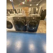 See Details - ***WEST LOCATION*** 4.5 cu.ft. Smart wi-fi Enabled Front Load Washer & 7.4 cu.ft Electric Dryer in Black Steel **OPEN BOX ITEM**