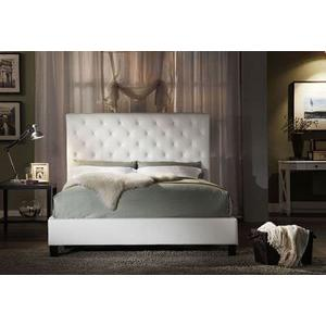 King Size White Tufted Headboard