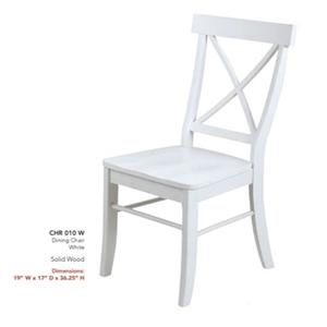 Madison Avenue - 42 Inch Round Table & 4 Side Chairs- White