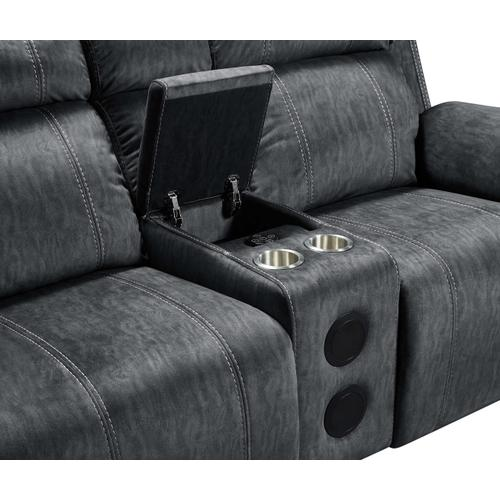 Tango Power Reclining Console Loveseat with Speakers