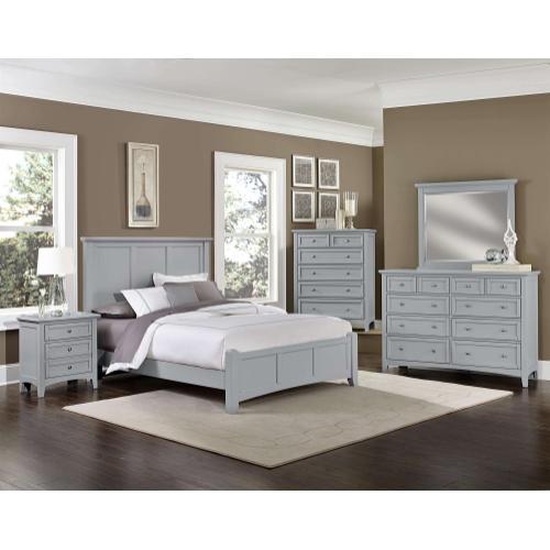 Vaughan-Bassett - King Grey Mansion Bed