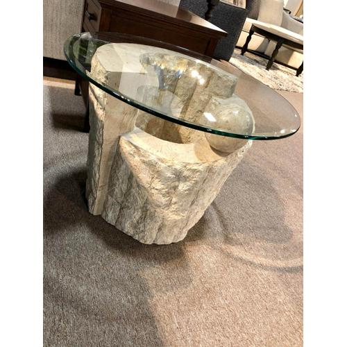 Pair of Stone End Tables