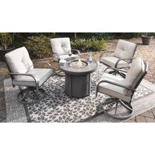 5 Piece Patio Set w/ Fire Pit Table