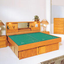 Jasmine Headboard Waterbed with La Jolla Casepieces Available in W. King, E. King and Queen