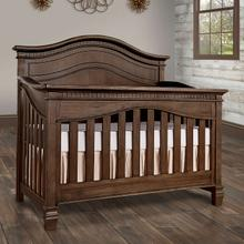 Evolur Cheyenne 5 in 1 Full Panel Convertable Crib- Antique Brown