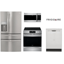 Frigidaire Gallery package with Air Fry range & 4-Door Refrigerator
