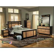 Country Estate Black/Savannah Pine Finish Queen/Full Headboard