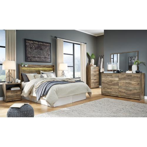 Rusthaven - Brown 4 Piece Bedroom Set