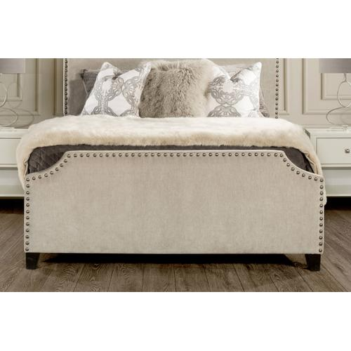 Dekland Fabric Bed with nailhead