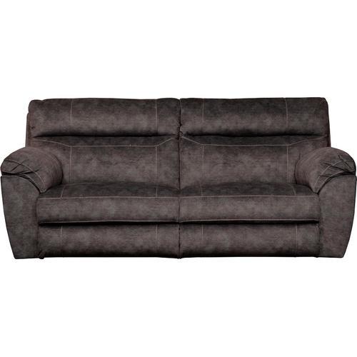 Sedona Power Headrest Lay Flat Reclining Sofa - Smoke